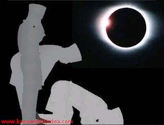 Bacaan Niat dan Tata Cara Sholat Gerhana (Bulan dan Matahari)