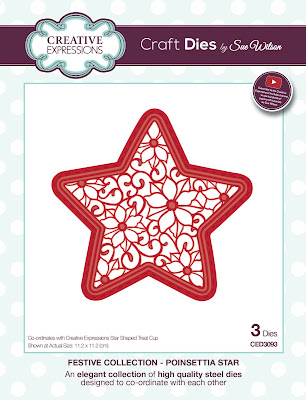 Festive Collection Poinsettia Star Dies CED3093