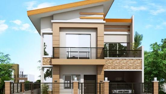 Lingkar Warna Desain Rumah Minimalis Modern 2 Lantai 4 Kamar Tidur