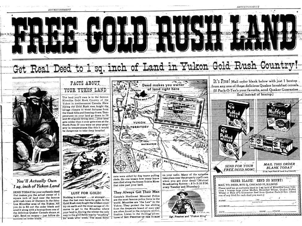 Klondike Big Inch Land Promotion