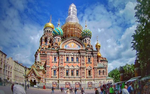 Catedral do São Derramado, em São Petersburgo. Rússia