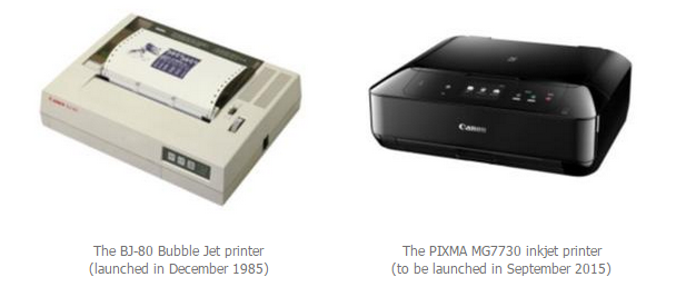 Canon first Bubble Jet inkjet printer