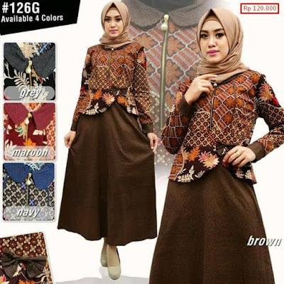 desain baju pesta batik muslimah