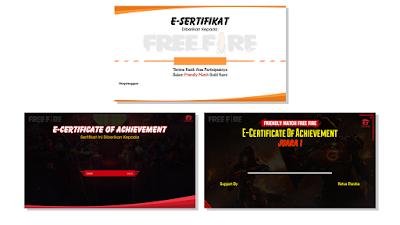 Kumpulan Template Sertifikat Kosong Lomba FF / Free Fire
