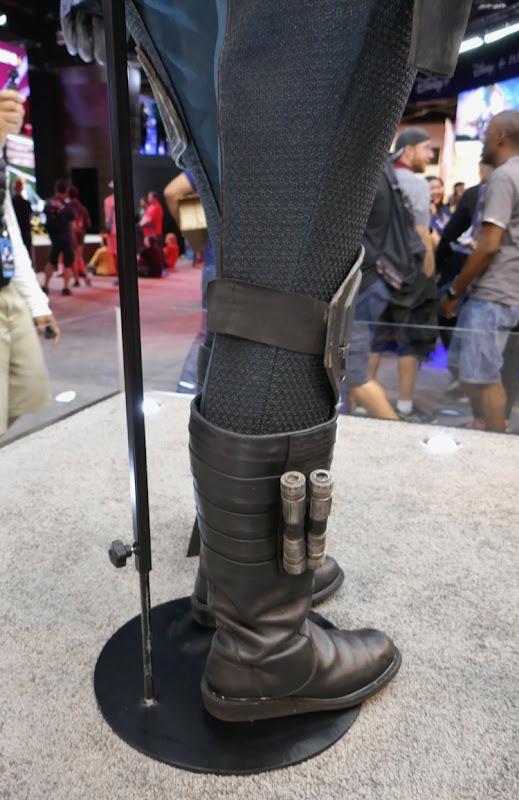 Madalorian Cara Dune costume boots detail