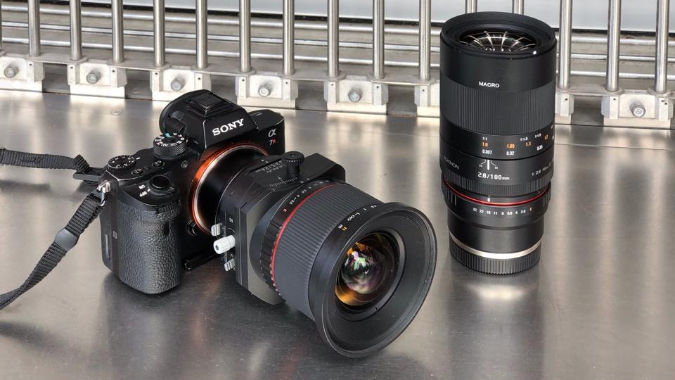 Тилт-шифт-объектив Samyang/Rokinon T-S 24mm f/3.5 ED AS UMC с камерой Sony