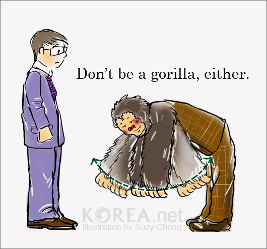 Korean greetings how to bow korea blog what results from this stance your neck sticks out while your upperbody goes down making you look like a bird not very attractive m4hsunfo