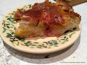 сливовый пирог на сметане
