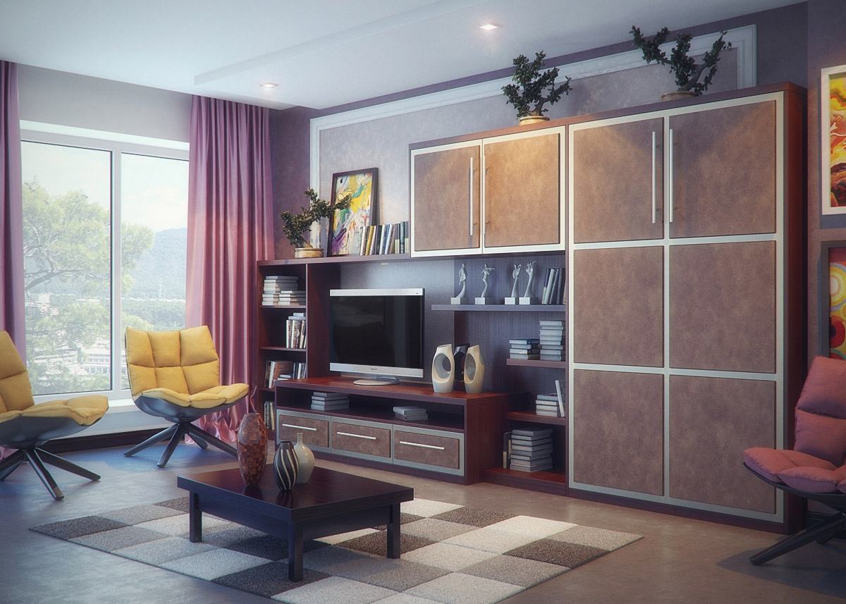 Brown and purple living room - Purple Living Room Ideas