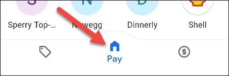 علامة تبويب google pay home