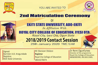 ROCOED Sandwich 2nd Matriculation Ceremony Date 2019 Session
