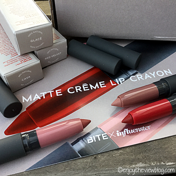 Bite Beauty Matte Creme Lip Crayons in Cava, Glacé, and Red Velvet!