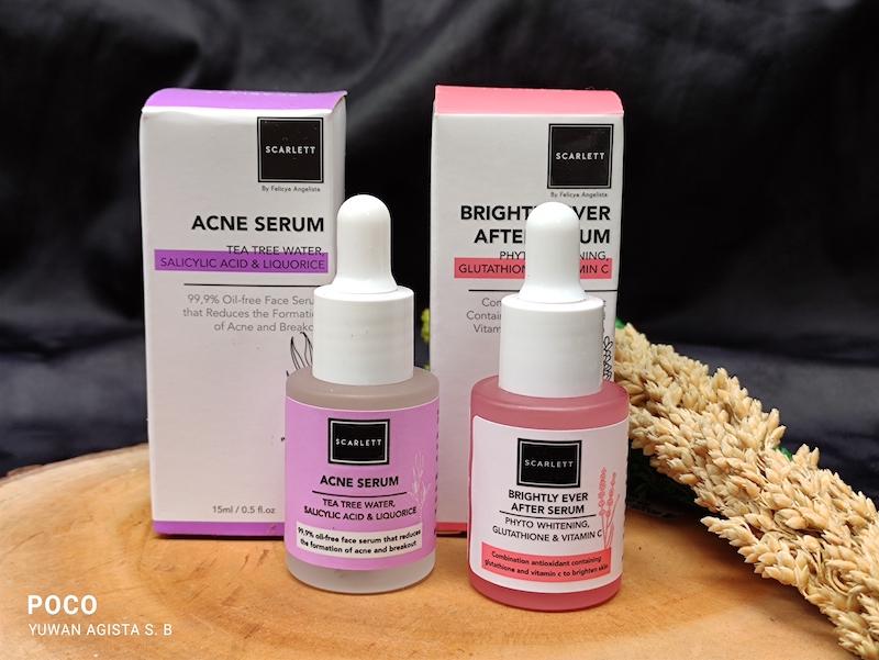 Review Scarlett Serum Brightly Ever After Serum & Acne Serum