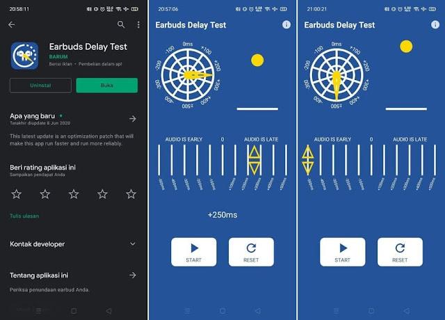 Aplikasi Test Latensi Bluetooth Earbuds Delay Tester