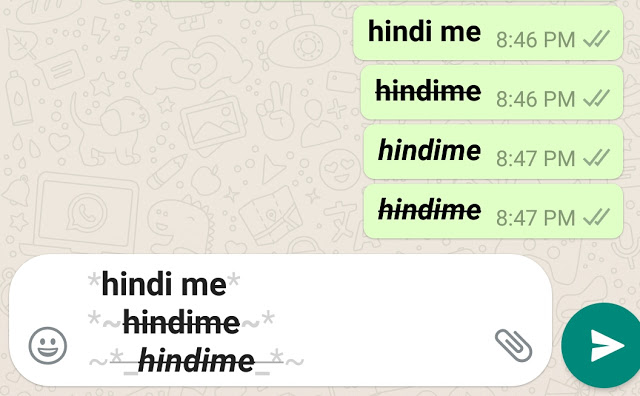 Whatsapp font style