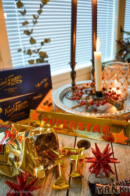 panda fazer toblerone suklaa joulusuklaa joulupöydän konvehti