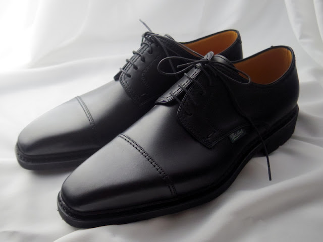 パラブーツのストレートチップ革靴