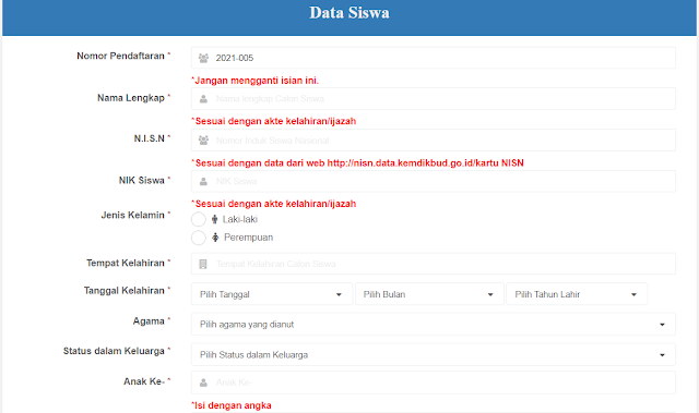 Aplikasi PPDB sesuai EMIS dan DAPODIK Terbaru
