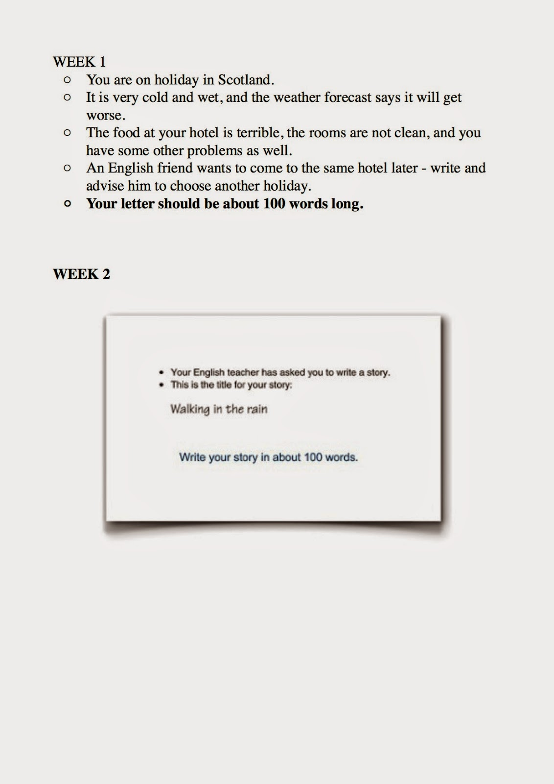 Writings examples b1 - WRITING AN INFORMAL E-MAIL or LETTER Read the