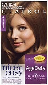 Nice'n Easy Age Defy Permanent Hair Dye Light Brown 6
