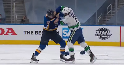 fight canucks blues