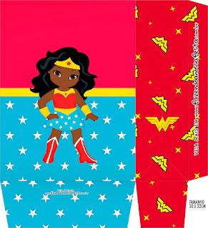 Cumpleaños de la Mujer Maravilla Afro: Cajas para Imprimir Gratis.