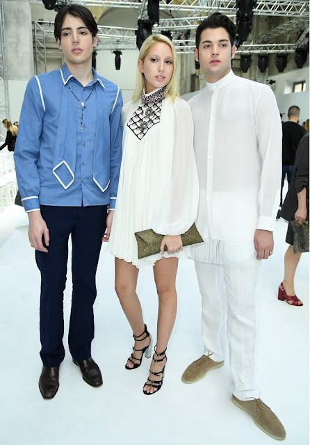 Princess Maria Olympia, Peter Brant Jr and Harry Brant attend the Giambattista Valli Haute Couture Fall/Winter 2016-2017 show