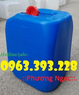 Can nhựa đựng hóa chất, can nhựa HDPE, can có nắp chống tràn 30L