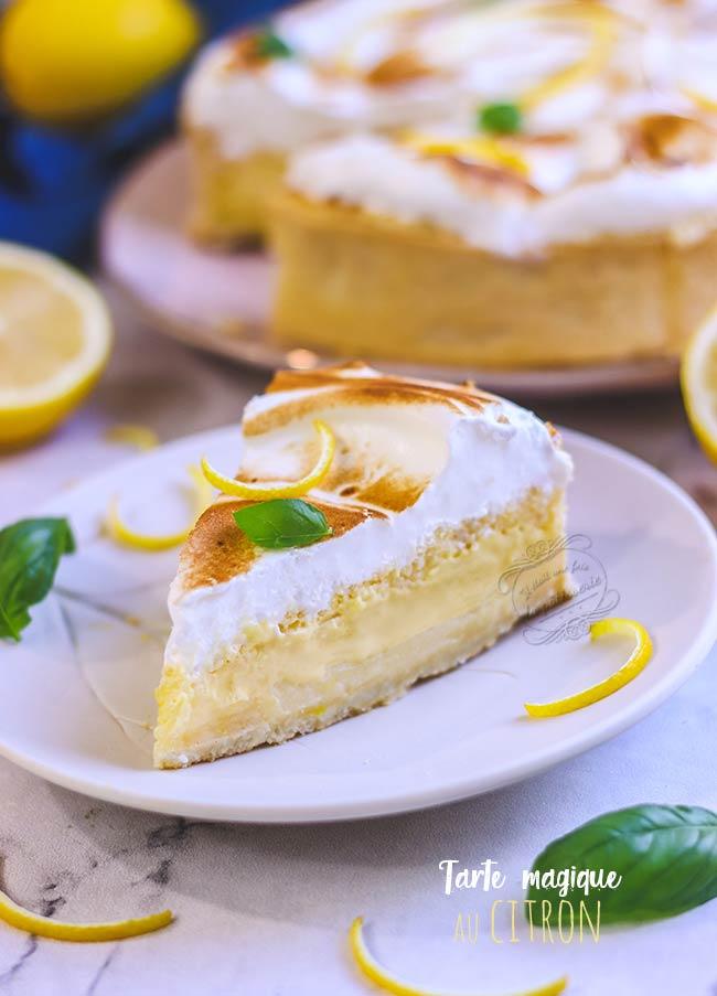 recette tarte magique citron