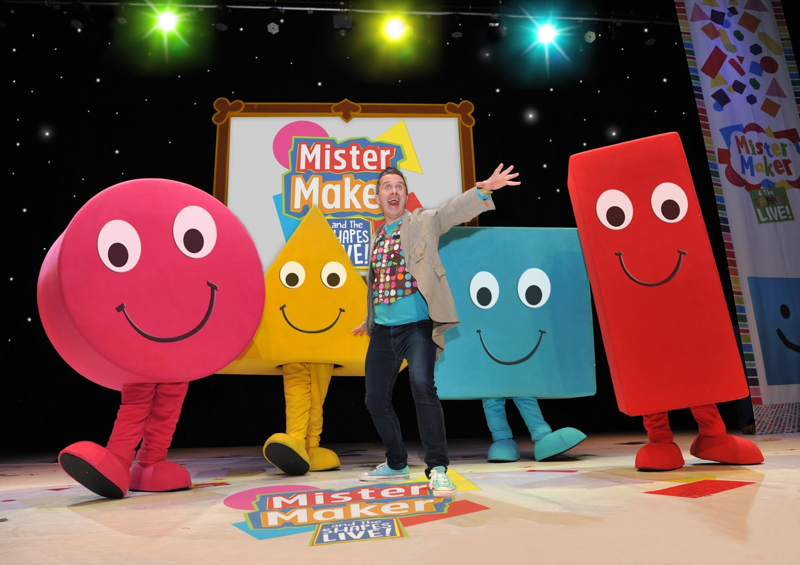 Mister Maker & The Shapes Live visits Whitley Bay Playhouse this July | Win Tickets & Meet Mister Maker in our Giveaway