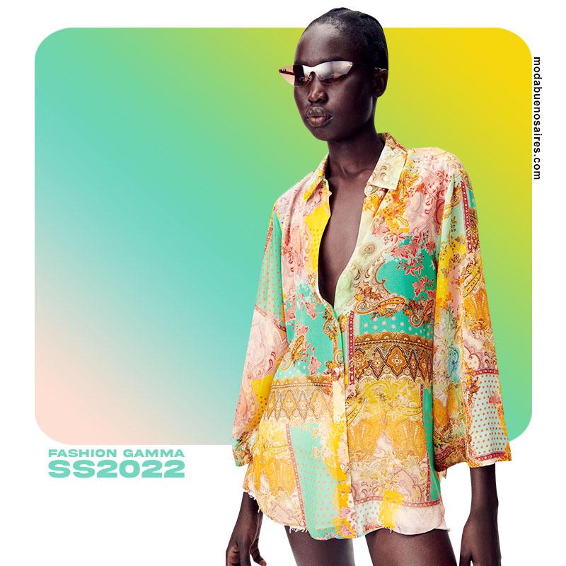 camisas de moda verano 2022 colores 2022