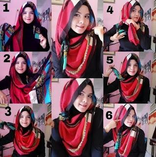 Tutorial hijab segi empat pipi tembem terbaru