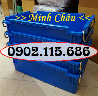 Thùng nhựa công nghiệp, thùng nhựa có quai sắt, thùng đựng bulong ốc vít, hộp nhựa công nghiệp, hộp nhựa có quai sắt, hộp đựng bulong ốc vít, 1