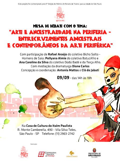 CLÃ DO JABUTI PROMOVE MESA DE DEBATE SOBRE ARTE E ANCESTRALIDADE NA PERIFERIA