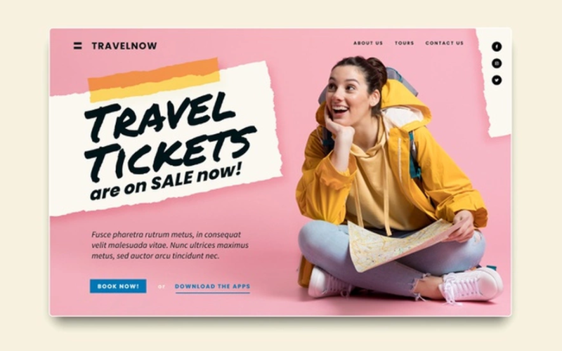 You can use landing pages to sell events tickets