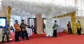 Dekorasi Pernikahan Sudah Terpasang 3 Hari Dibongkar Saat Kedatangan Presiden Jokowi