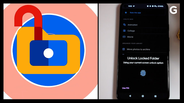 How to lock the images in Google Photos