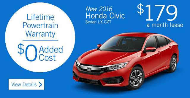 New 2016 Honda Civic Sedan LX CVT