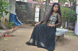 Tamil Actress Shreya Sri Stills in Black Akarkali Dress at Vanga Vanga Team Interview  0028.jpg
