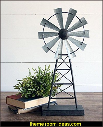 Windmill Table Decor  rustic industrial farmhouse decorating - Industrial farmhouse decor - rustic farmhouse decor - industrial farmhouse living - barn door decor - rustic farm style deccor -  Modern Farmhouse decor - Sliding barn Doors - modern industrial farmhouse decorating - Windmill Table Decor