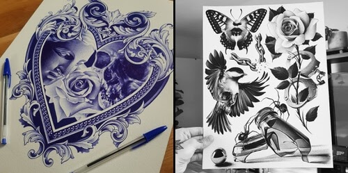 00-Pen-Drawings-Ben-Dunning-www-designstack-co