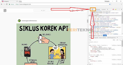 cara upload gambar atau video instagram lewat komputer