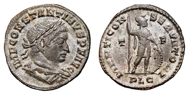 acuñado a nombre de Constantino I