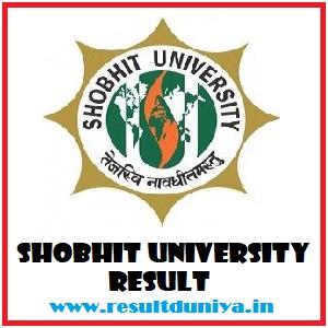 Shobhit University BA BSc BCom BBA BCA BEd Result 2020-21