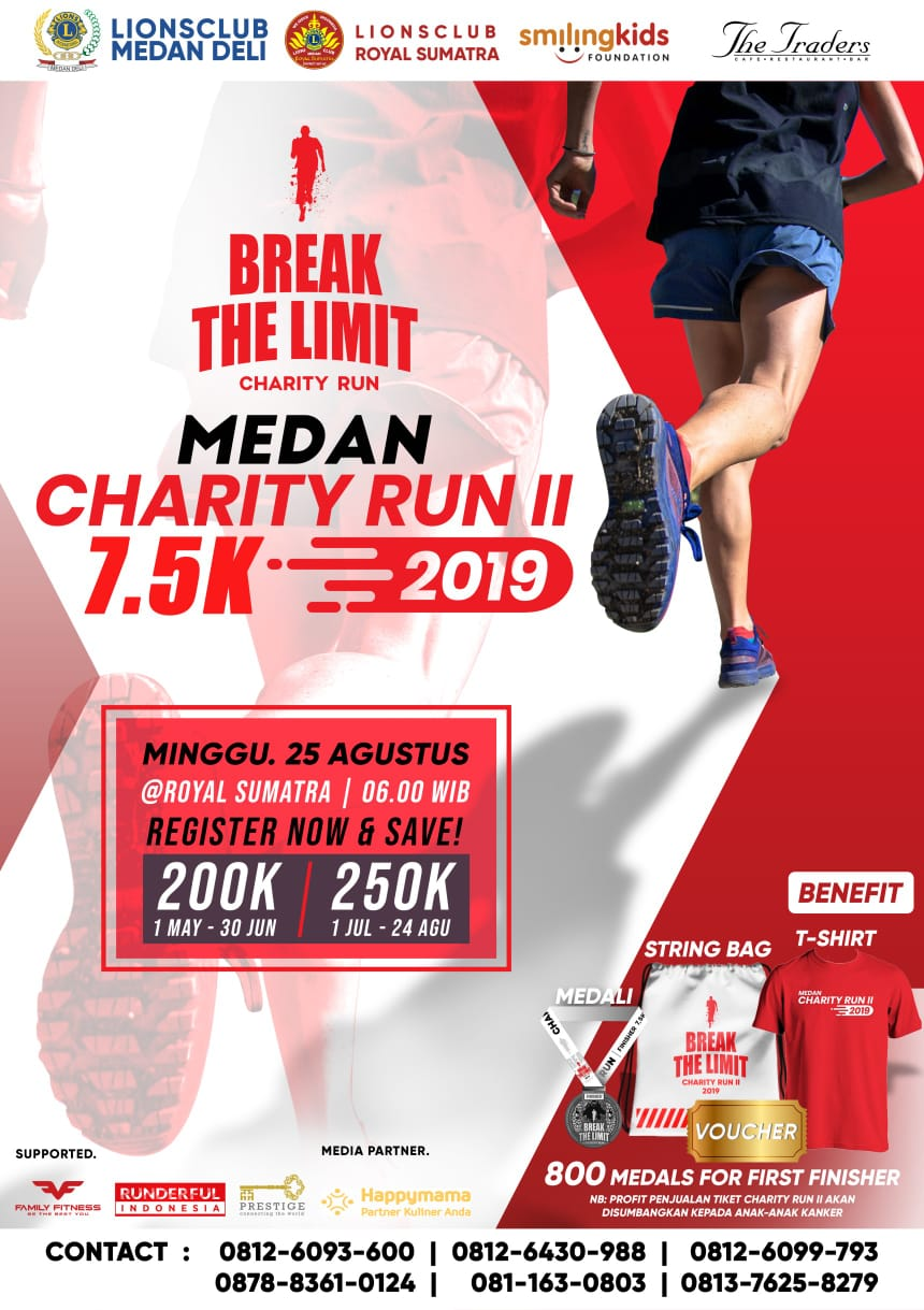 Break The Limit - Medan Charity Run II • 2019