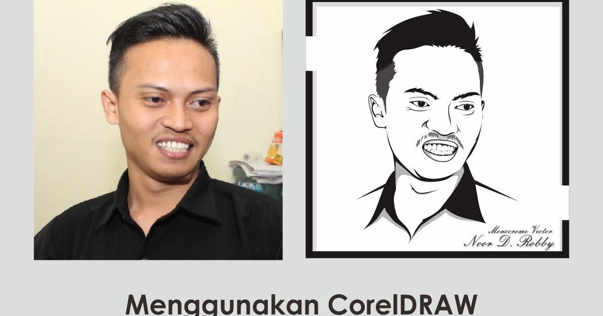 Line Art Wajah : Panduan coreldraw cara membuat vector lineart sederhana