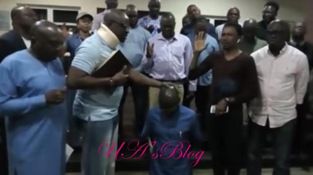 'I disarm Buhari' — Fayose lays hand on his deputy in new video