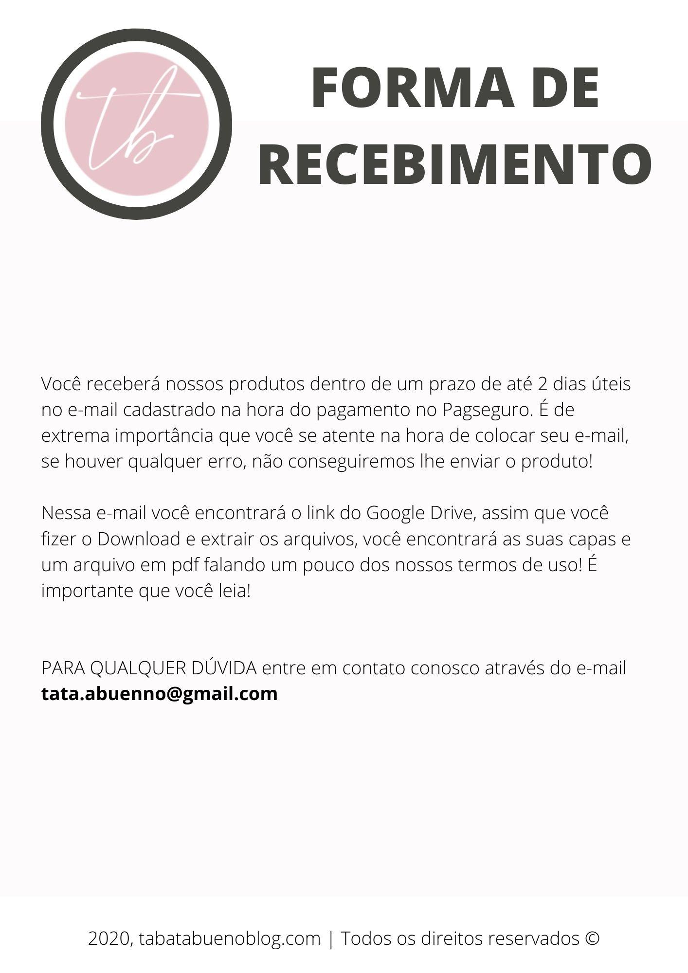 FORMA DE RECEBIMENTO CAPAS DE DESTAQUES INSTAGRAM!