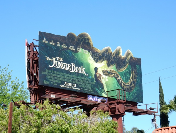 Jungle Book Kaa snake billboard