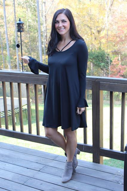 Ruffle sleeve dress molly suzanne
